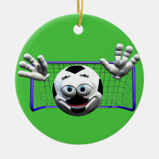 Soccer Ceramic Ornament