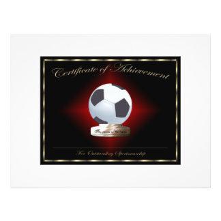 Soccer Certificate of Achievement 21.5 Cm X 28 Cm Flyer