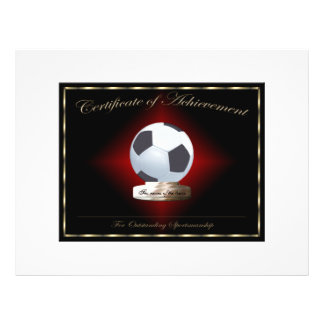 Soccer Certificate of Achievement Flyer