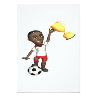 Soccer Champion 13 Cm X 18 Cm Invitation Card