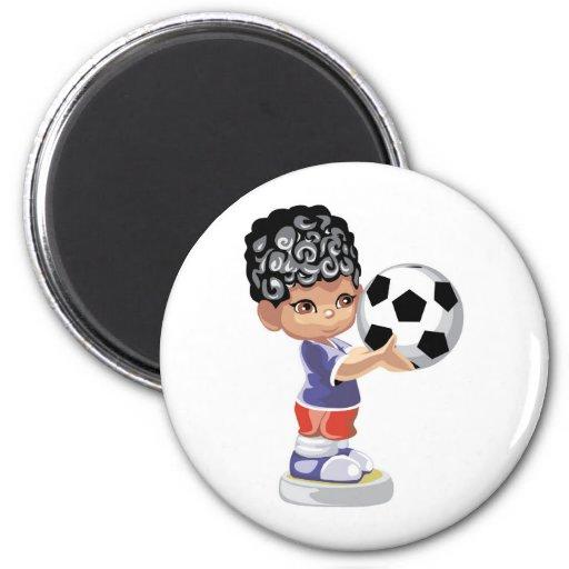 Soccer Champion Refrigerator Magnet