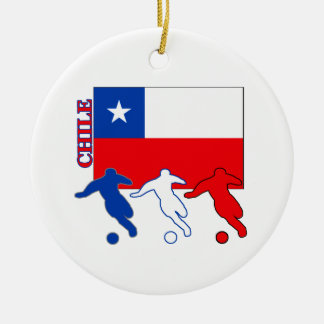 Soccer Chile Ceramic Ornament