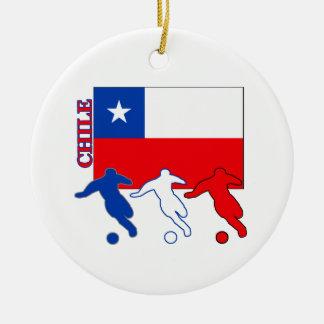 Soccer Chile Ornaments