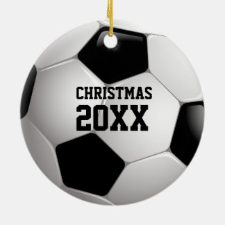 Soccer Christmas 20XX   Personalizable Sport Gifts Ceramic Ornament