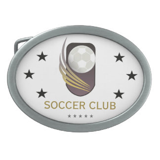 'Soccer Club' Belt Buckle Football Fan Buckle Gift