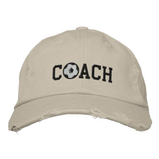 Soccer Coach Cap Embroidered Hats