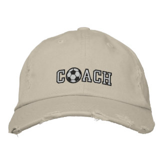 Soccer Coach Embroidered Hat