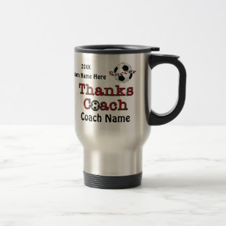 Soccer Coach Gift Ideas with Your PHOTO and TEXT Travel Mug