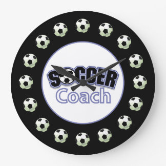 Soccer Coach Thank You, Balls Large Clock