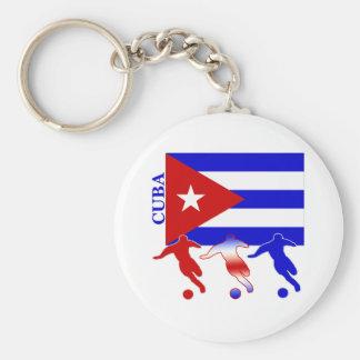 Soccer Cuba Basic Round Button Key Ring