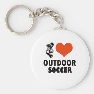 soccer design basic round button key ring