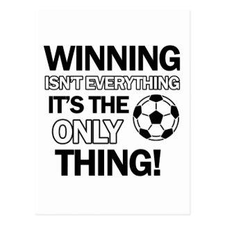 soccer design postcard