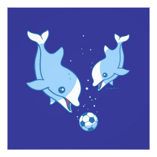 Soccer Dolphins Photo Print