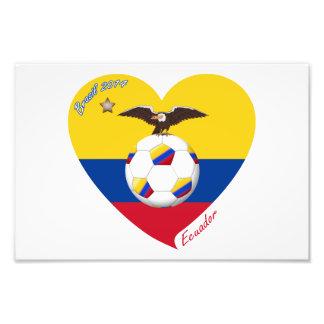 """Soccer """"ECUADOR"""". Ecuadorian National Soccer Team Photo Print"""