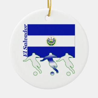 Soccer El Salvador Ceramic Ornament