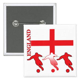 Soccer England 15 Cm Square Badge