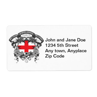 Soccer England Shipping Label