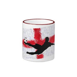Soccer-England Ringer Mug