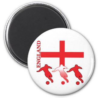 Soccer England Round Magnet