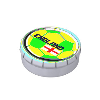 Soccer England Jelly Belly Candy Tin