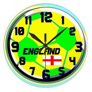 Soccer English flag customizable name England Wallclock