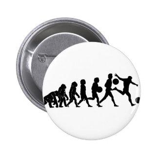 Soccer evolution 6 cm round badge