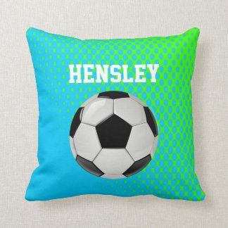 Soccer Fan Custom Throw Pillow