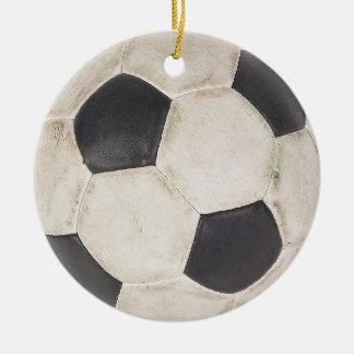 Soccer Fan Gift Idea Soccer Players Gift Christmas Round Ceramic Decoration