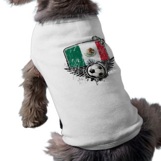 Soccer fan Mexico Sleeveless Dog Shirt