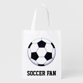 Soccer Fan Reusable Grocery Bag