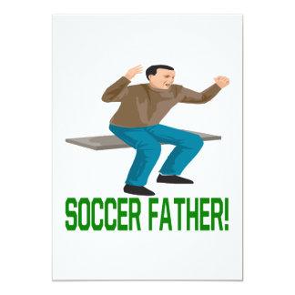 Soccer Father 13 Cm X 18 Cm Invitation Card