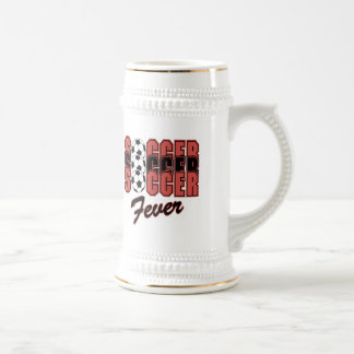 Soccer Fever T-shirts and Gifts Beer Stein