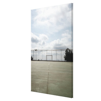 Soccer field in Barcelona, Spain Canvas Print