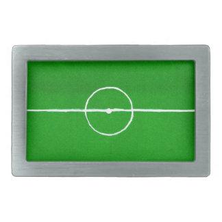 Soccer Field Sketch2 Rectangular Belt Buckle