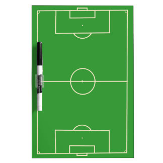Soccer Field Strategy Dry Erase Board
