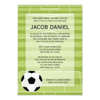Soccer Field Themed Bar Mitzvah Invitations