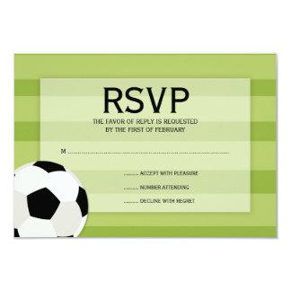 Soccer Field Themed Bar Mitzvah RSVP Card