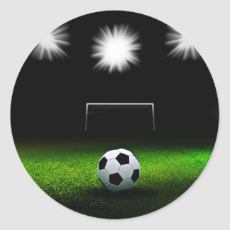 Soccer field with Ball Classic Round Sticker