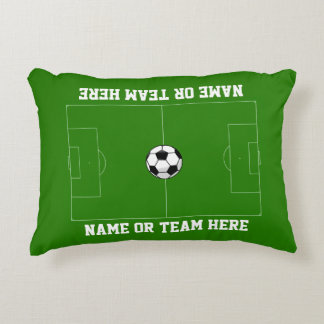 Soccer Field Your Text Decorative Cushion