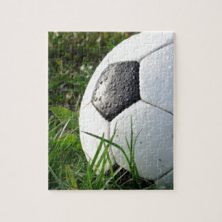 Soccer~ Foot Ball in field Jigsaw Puzzle
