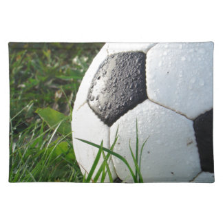 Soccer~ Foot Ball in field Placemat