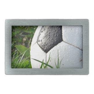 Soccer~ Foot Ball in field Rectangular Belt Buckle