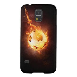 Soccer, Football, Ball under Fire Case For Galaxy S5