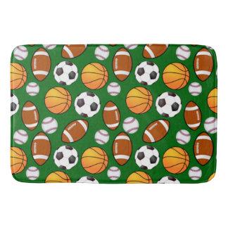 Soccer Football Baseball basketball Sport Pattern Bath Mat