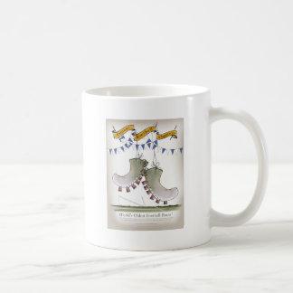 soccer football blue team boots coffee mug