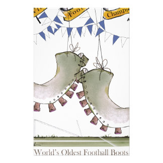 soccer football blue team boots stationery