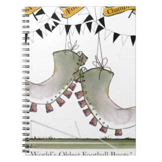 soccer football boots b + w team notebooks
