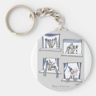 soccer football dog blues forever key ring