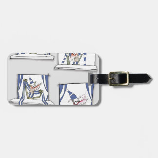 soccer football dog blues forever luggage tag