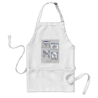 soccer football dog blues forever standard apron